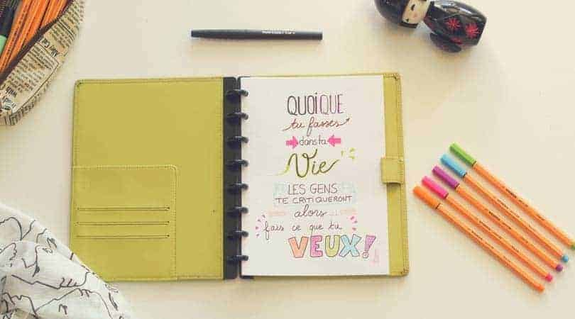 bullet journal dans un planner type filofax comment faire captain carnet. Black Bedroom Furniture Sets. Home Design Ideas
