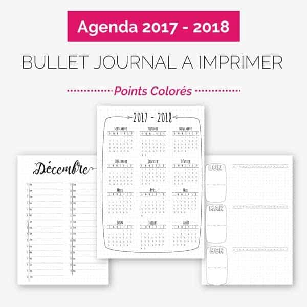 Agenda Fa 231 On Bullet Journal 224 Imprimer Points Color 233 S