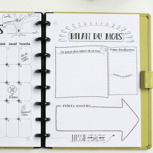 gratuit page mensuelle mars 2018 fa on bullet journal. Black Bedroom Furniture Sets. Home Design Ideas