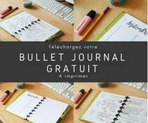 bullet journal francais gratuit à imprimer