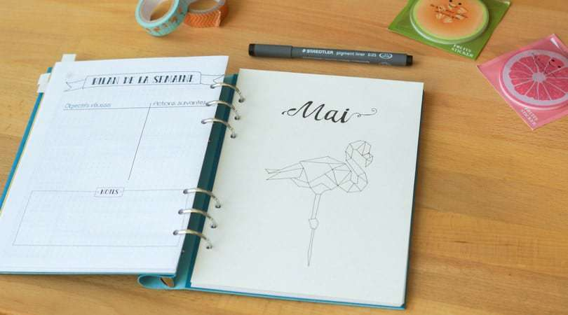 Mood Tracker pour Bullet Journal : le tuto décalcomanies !