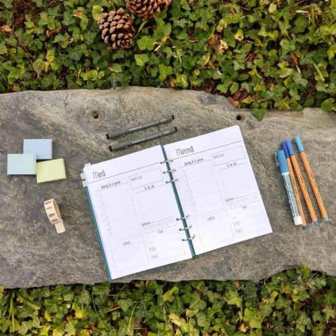 agenda a imprimer jour bullet journal planning