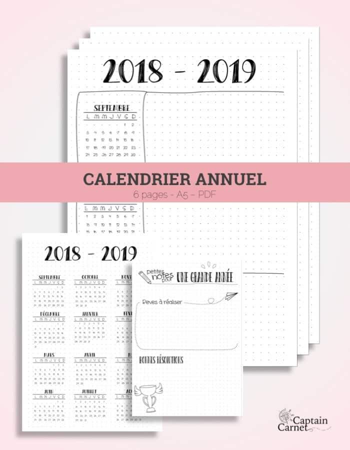 Calendrier 2019 Bullet Journal.Future Log A Imprimer Facon Bullet Journal