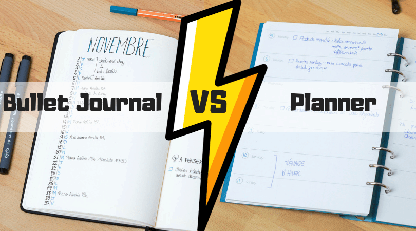 Bullet Journal VS Filofax : je choisis le Bujofax !