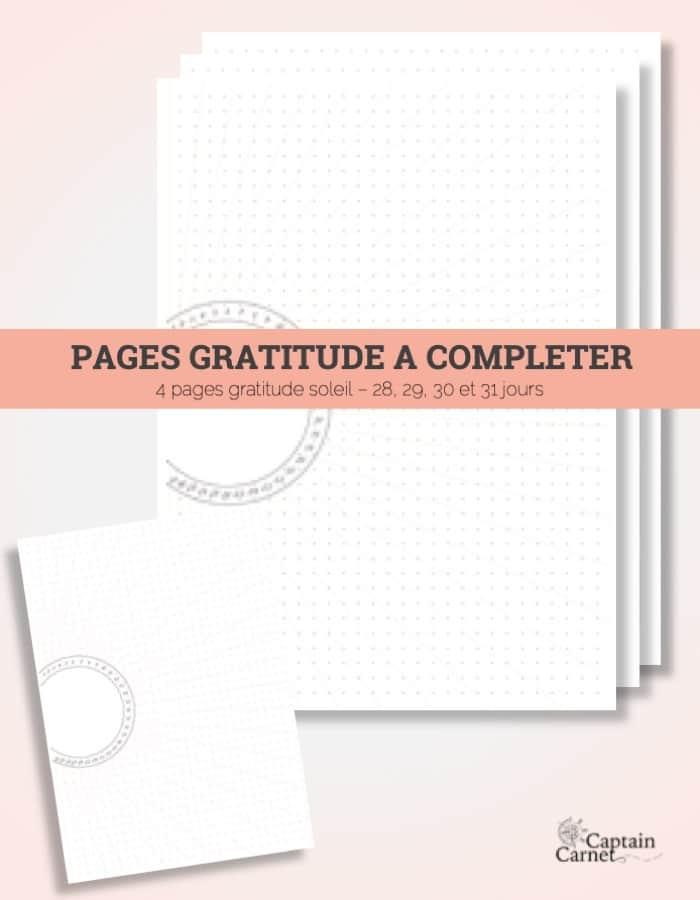 Carnet De Gratitude à Imprimer Et Personnaliser
