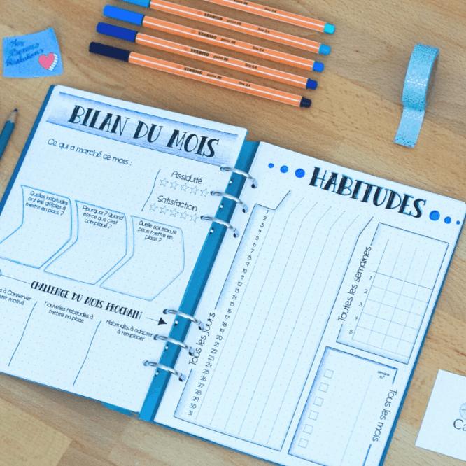 habitudes bullet journal morning routine