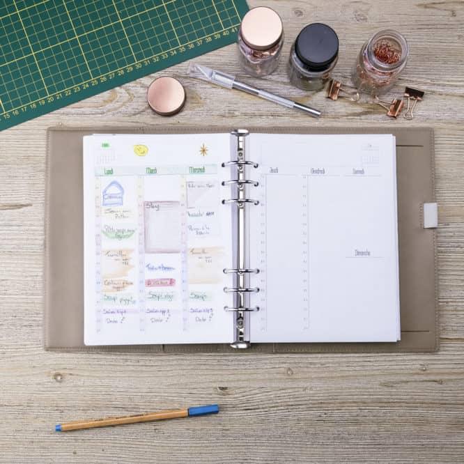 agenda chef d'entreprise semainier